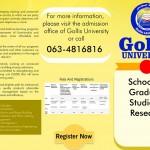 GOLLIS UNIVERSITY SCHOOL OF GRADUATE STUDIES & RESEARCH